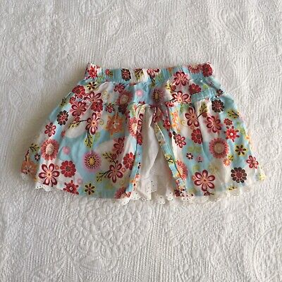 BABY GIRLS Size 0 OshKosh B'gosh Skirt Floral Cotton Spring Summer