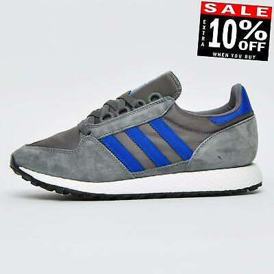 Adidas Originals Men's Forest Grove Classic Retro Running Trainers Grey