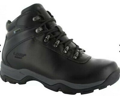 BRS* Hi Tec Mens Eurotrek III Waterproof Black Lace Up Boots Size Uk 7