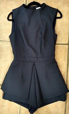 Finders Keepers Navy Playsuit XS