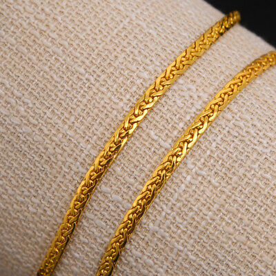 Sparking 18K Stamped Yellow Gold Filled Bracelet Chain 8.66'' Long Jewelry Gift
