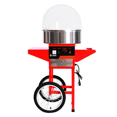 Commercial Cotton Candy Machine Electric Sweet Clouds Sugar Floss Maker and Cart