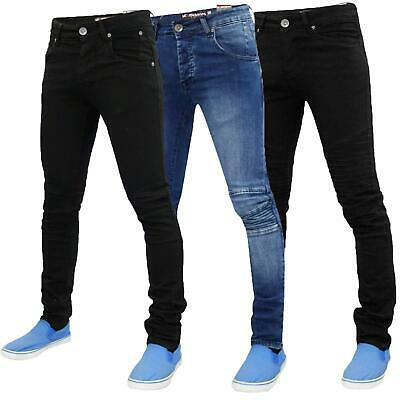 New Mens Loyality & Faith Bikers Look Denim Skinny Fit Jeans Stretch Denim Pants