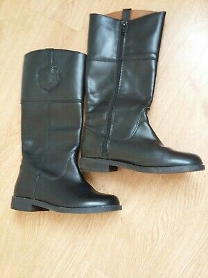 Zara Girls Black Boots Size  EUR 31 Leather