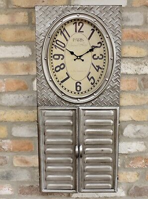 Industrial Style Clock With Key Storage