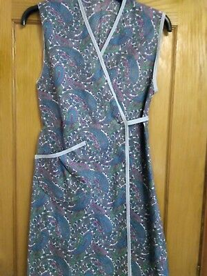 WAR TIME 1940's STYLE WRAP  PINNY, RE- ENACMENT, THEMED EVENTS (SMALL 10/12)