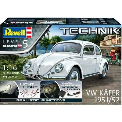 Revell Germany 1/16 VW Kafer Beetle 1951/52 Technik Model Kit 00450 RVL00450