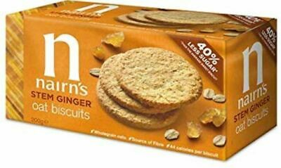 Nairns Stem Ginger Biscuits - Wheat Free 200g (Pack of 18)