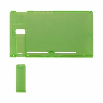 Housing shell for Nintendo Switch console back plate case Clear Green | ZedLabz