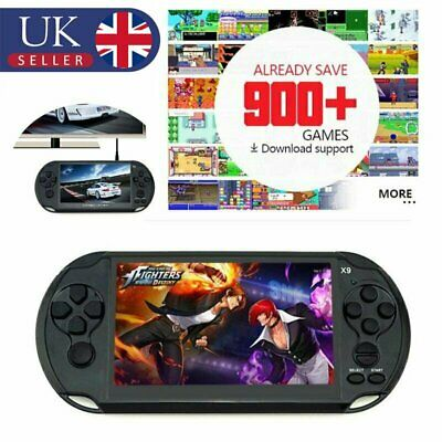 Portable Handheld X9 Video Game Console 128 Bit Built in 900+Game Kids Player UK