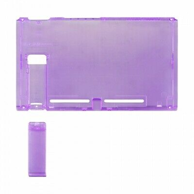 Housing shell for Nintendo Switch console back plate case Clear purple | ZedLabz
