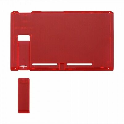 Housing shell for Nintendo Switch console back plate case - Clear red | ZedLabz
