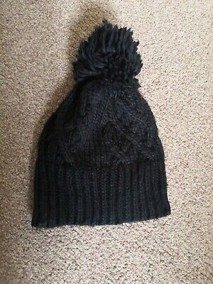 Mothercare Black Knitted Winter HAT Age 1-3 Years Used