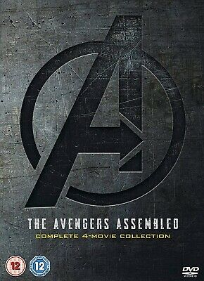 Marvel Avengers Assembled 1-4 4 Movie Collection Boxset DVD 2019 New & Sealed UK