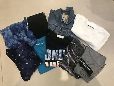Job Lot Bundle Girls Clothes 9-10 Years Thermal Outdoor Leggings Jeans Tops