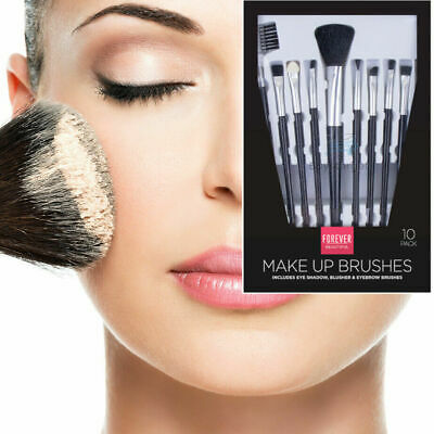 🔥10PCS Make up Brush Set Brushes Blusher Face Powder Foundation Eyeshadow Tools