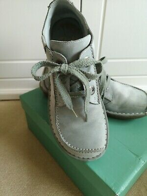 FAB! FUNNY DREAM. Clarks Duck egg blue ladies shoes
