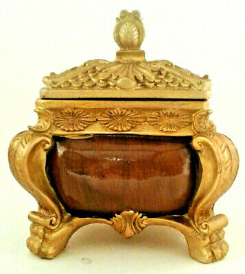 Collectible Wooden Jewelry  Box Vintage Ornate Trunk Maison Carved Trinket Box