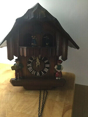 Vintage Black Forest Cuckoo Clock Spares or Repair Weggiserlied Schweizerlandler