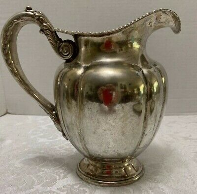 GORHAM Silver Soldered WATER PITCHER Melon 1891 Pattern 01000 Anchor Mark Shells