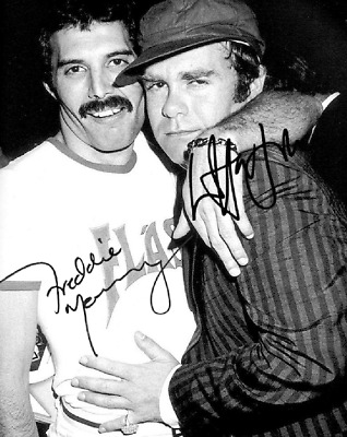 Freddie Mercury & Elton John Queen Signed Autographed Reprint 8X10 Photo Band