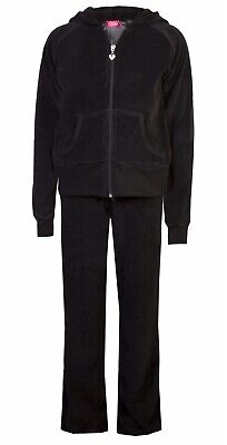 Love Lola Childrens Girls Velour Tracksuit Black Age 2/3