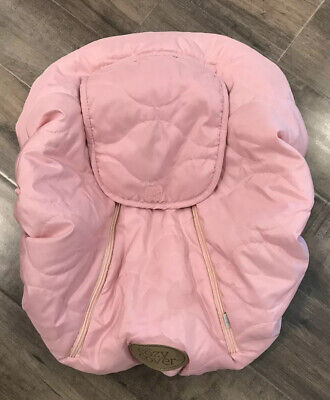 Cozy Cover Infant Carrier Car Seat Cover Pink Peekaboo Window Girl Winter Baby
