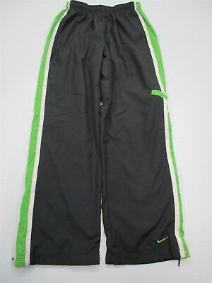 NIKE #PA6235 Girl's Size L Lined Athletic Basketball Striped Gray Track Pants