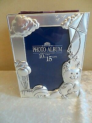 New Unused Silver Plated Baby Gift Photo Album With Frame 1990S
