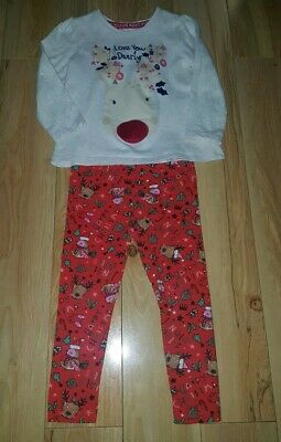 Girls Christmas Top And Leggings Outfit 2-3 Years Tu