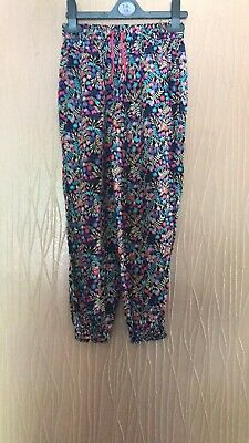 Girls Age 7-8 Years George Floral Print Summer Trousers