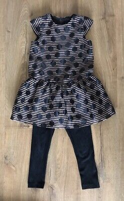 Next Girls Outfit Party Dress / Tunic and Leggings Age 5