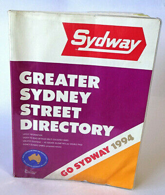 Sydway GREATER SYDNEY STREET DIRECTORY ~ Soft Cover First Edition ~ 1994