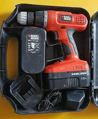 Black&Decker cordless hammer drill 18v epc188 10mm  18v 2x battery with charger