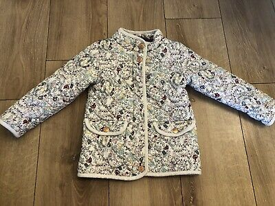 Next girls beautiful floral Padded jacket age 3-4 years