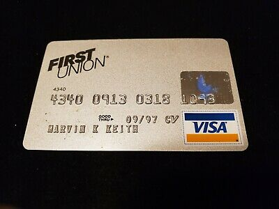 First Union~ Visa Credit Card exp 97♡Free Shipping♡cc443♡