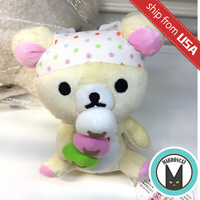 Japan San-X Rilakkuma Korilakkuma Tea House Chaya Dango Plush Relax Bear Rare
