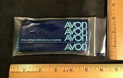 Vintage AVON FOLDING BRUSH & COMB - New in Package, Old Stock - Groom on the Go!