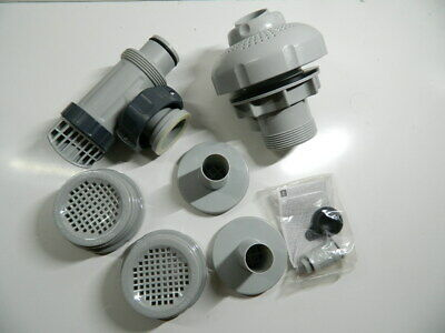 Intex 26005E-LARGE Pool 1-1//2 Fittings Set 1900-2500GPH with 2 1-1//4 Strainers