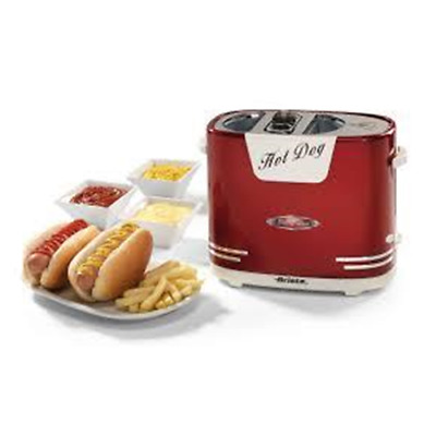 Ariete Hotdog Party Time Speciale Griglia Per Scaldare I Wurstel 300 W Red