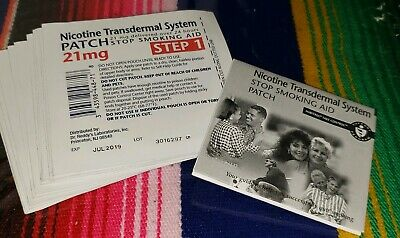 Habitrol Step 1 Nicotine Transdermal System Patch 21 mg 14 patches Expired 7/19
