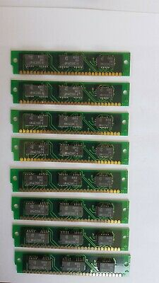 Vintage Rare 8pcs x 30 Pin Ram for early 386 computer.