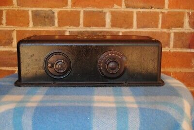 Rare Atwater Kent Model 35 Metal Cabinet Radio Great Condition!!