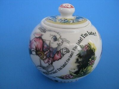 Paul Cardew Design Alice In Wonderland Covered Sugar Bowl-Tea & Coffee Giftware
