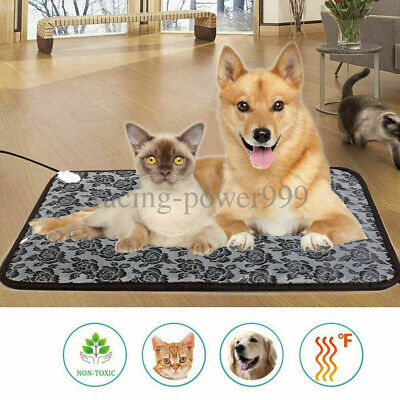 Pet Heated Pad Bed Waterproof Puppy Dog Cat Warmer Electric Heating Mat Cushion