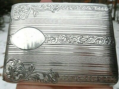 Antique Vintage CIGARETTE CASE ~ STERLING Silver ELGIN AMERICAN