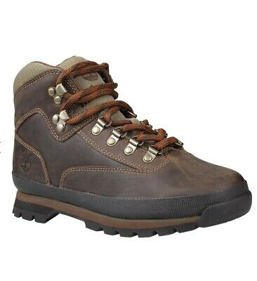 TIMBERLAND EURO HIKER Brown Sz 9 M Women Leather Hiking