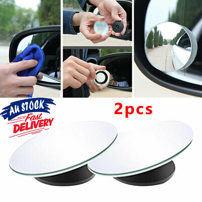 Blind Spot Rimless Mirror 2 Car Rearview Adjustable Rear View Convex Wide Angle