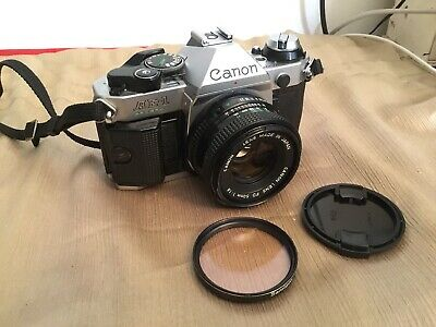"""CANON AE-1 PROGRAM 35mm Camera With Canon 50mm f/1.8 Lens """"TESTED"""""""