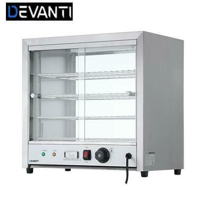 RETURNs Devanti Commercial Food Warmer Pie Hot Display Showcase Cabinet Stainles